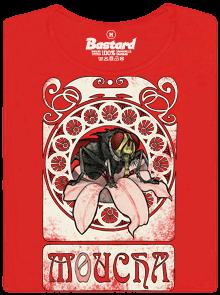 Bastard Moucha červené dámské tričko