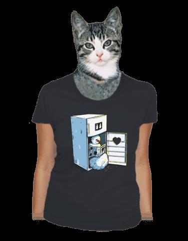 Lednice šedé dámské tričko