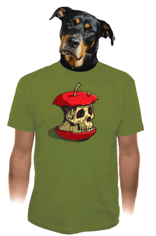 Dead Apple zelené pánské tričko