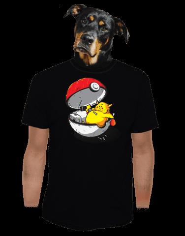 Konec pokémona černé pánské tričko