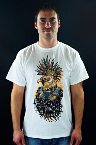 Punk Eagle bílé pánské tričko