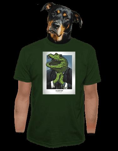 Aligátor zelené pánské tričko