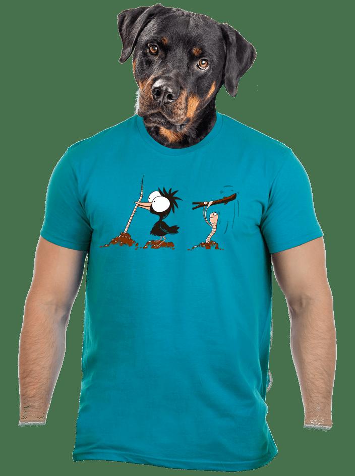 Nesprávný konec modré pánské tričko