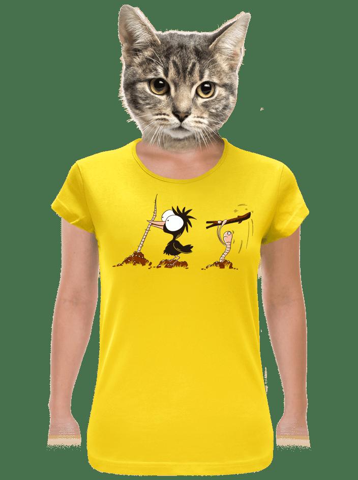 Nesprávný konec žluté dámské tričko