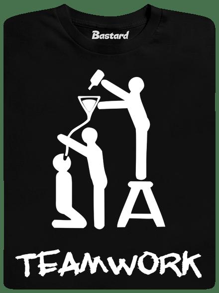 Bastard TeamWork černé pánské tričko