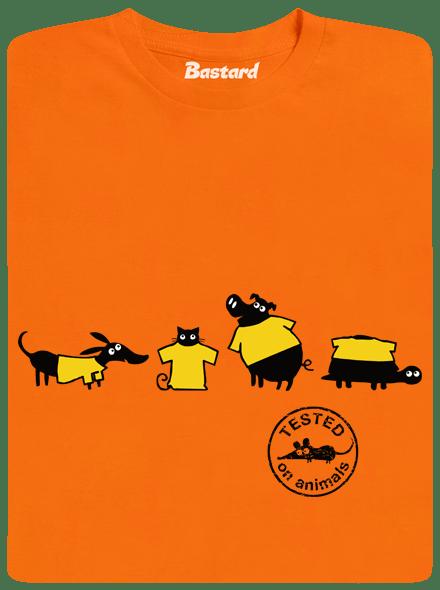 Bastard Testováno oranžové pánské tričko - nový střih