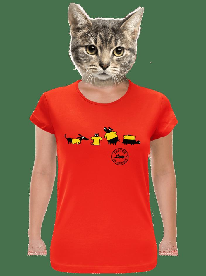 Testováno červené dámské tričko