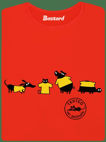 Bastard Testováno červené dámské tričko