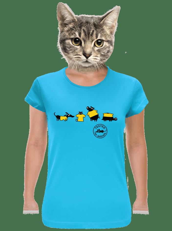Testováno modré dámské tričko