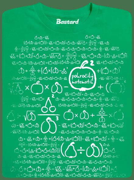 Bastard Matematik zelené pánské tričko - nový střih