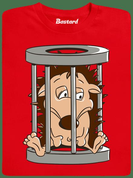 Bastard Ježek v kleci červené pánské tričko