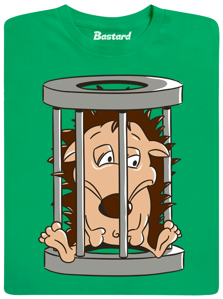 Bastard Ježek v kleci zelené pánské tričko
