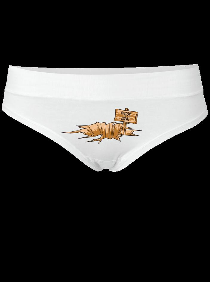 Pozor díra - bílé kalhotky