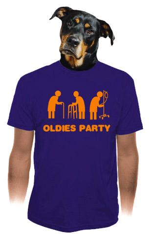 Oldies party modré pánské tričko