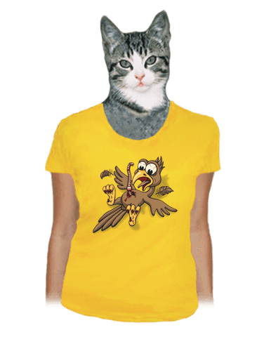 Žížalovetřelec žluté dámské tričko