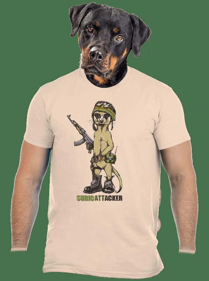 Surikata hnědé pánské tričko