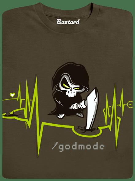 Bastard Boží zásah khaki pánské tričko - nový střih