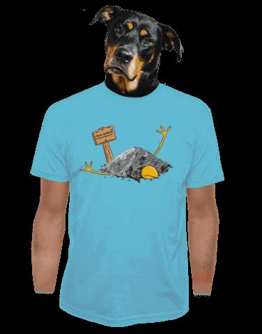 Sova spálená modré pánské tričko