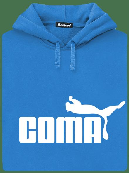 Bastard Coma modrá pánská mikina