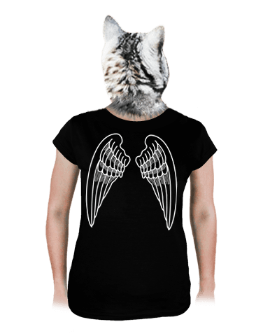 Křídla černé dámské tričko