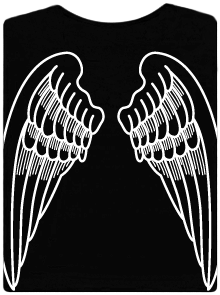 Bastard Křídla černé dámské tričko