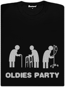 Bastard Oldies party černé dámské tričko raglán